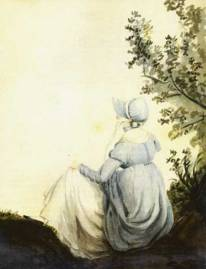 Watercolour of Jane Austen by her niece Cassandra