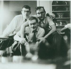 Allen Ginsberg, Lucien Carr, William Burroughs, New York 1953. c. Allen Ginsberg Estate.