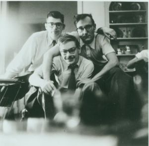 Allen Ginsberg, Lucien Carr, William Burroughs, New York 1953. c. Allen Ginsberg Estate.