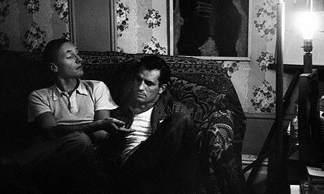 Birth of the Beats ... William Burroughs (L) and Jack Kerouac in New York in 1953, photographed by Allen Ginsberg. Photograph: Corbis